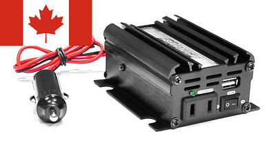 Pyle PINV22 Plug In Car 100 Watt 12V DC to 115 Volt AC Power Inverter with...
