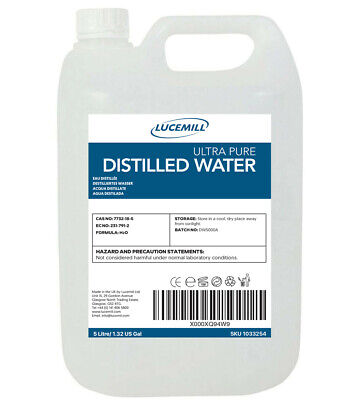 5 Litre (5L) Ultrapure Distilled Water