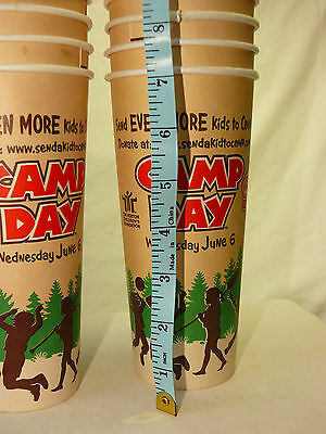 10 Tim Horton's Cafe & Bake Shop CAMP DAY Paper Cardboard Cups XLG  24oz each