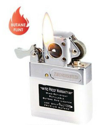 Kgm Vector Butane Flip Top Standard FLAME PIPE Lighter Insert TH INSERT P New