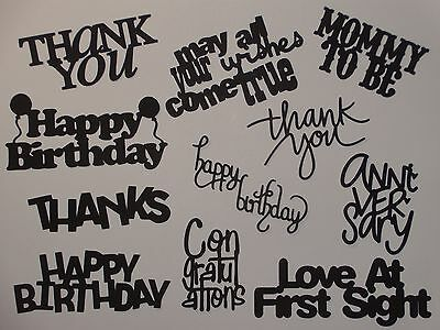 11 words for greeting card die cuts scrapbook die cut