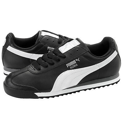 Puma Roma Basic Black White Men s Size 7.5 to 11 Sneakers New In Box 353572- 3018b062a5d8