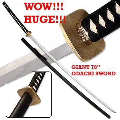 78 Inch Japanese Odachi Two Handed Nodachi Japanese Large Field Sword Katana