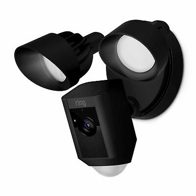 Ring Outdoor Wi-Fi Cam with Motion Activated Floodlight, Black 88FL001CH000
