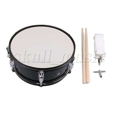 "Black 14"" Snare Drum for Kids with Drum Strap Stick Key Percussion Toy"