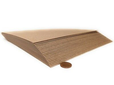 8.5x11 Inches 50 Point / 50 Pt Kraft Heavy Duty Chipboard Sheets- 7 Choices