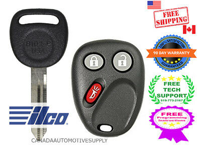 ilco Key+Replacement Keyless Entry LHJ011Transmitter Car Key fob 4 GMC Chevrolet