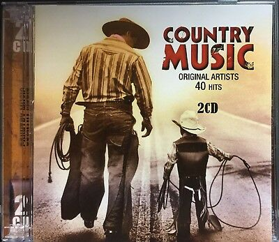 Country Music, CD, 2009,  Original Artists,  40 Hits, on 2 Discs, New