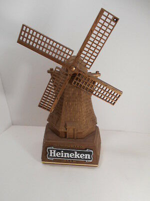 Vintage 3D HEINEKEN Lager Beer Windmill Bar Sign Display Imported From Holland