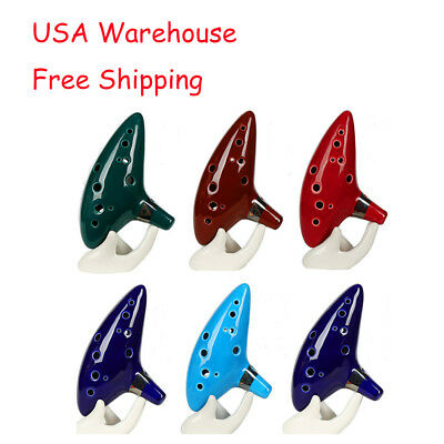 12 Hole Ocarina Ceramic Alto C Legend of Zelda Ocarina Flute Music Gifts