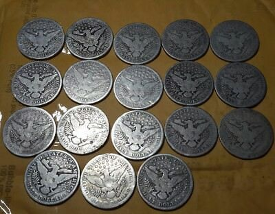Lot of $9.00 Face Value US United States Silver Barber Halves Half Dollars Coins