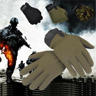 Men's Outdoor Military Tactical Full Finger Gloves Camping Hiking Cycling Mitten