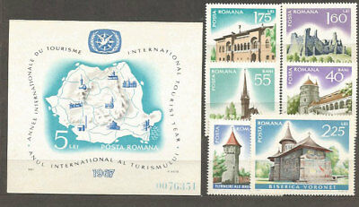 Romania - Mail 1967 Yvert 2310/5+H,64 Mnh Monuments