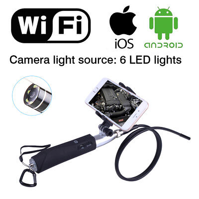 Handheld Inspection Camera HD WIFI Endoscope 6LED Lights Tube for iOS Android PC