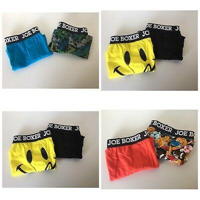 Joe Boxer Boys Youth 2 Pack Boxers Variety of sizes New Free Shipping