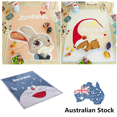 Baby Kids Play Mat 200x150cm Soft Rectangle  Floor Rug Crawling Blanket AU
