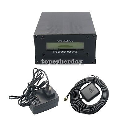 GPSDO GPS Colck 10M Frequency Message Disciplined Oscillator + LCD Display & ANT