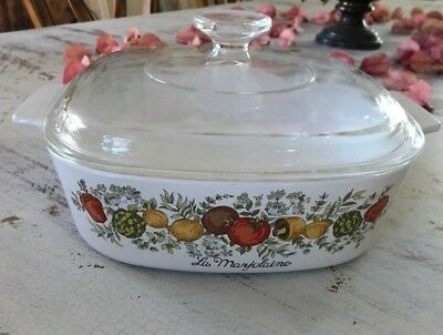 Corning Ware Spice of Life LEchalote A-2-B 2 Ltr Casserole Dish w/ Pyrex A9C Lid