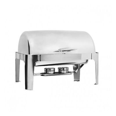 Chafer Chafing Dish w Roll Top, Fuel Heated, 1/1 Food Pan Deluxe Buffet Warmer