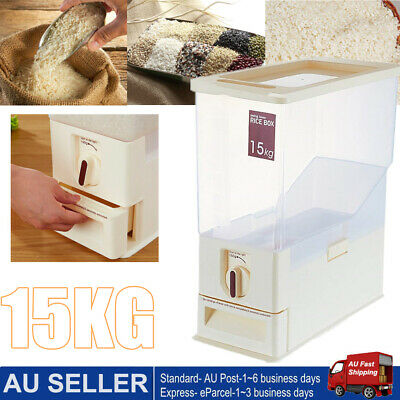 Rice Smart White Rice Dispenser Container Keeper 15kg + Free Shipping