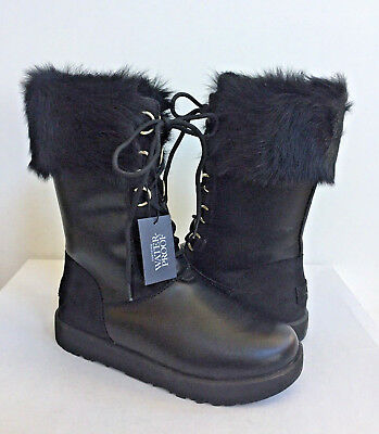 252cbcfffc7 UGG SUNDANCE WATERPROOF Ultra Tall Black Shearling Boot Us 7.5 / Eu ...