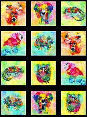 Wild Things Animal Imaginary Quilt Panel * New * Free Post * Digital Print *