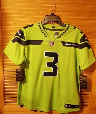 new product 0d33d 20d24 $150 WMN🏈 NIKE NFL SEATTLE SEAHAWKS Russell Wilson #3 LIMITED COLOR RUSH  Jersey