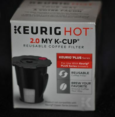 Keurig 119367 Hot 2.0 My K-Cup Reusable Coffee Filter Small Black Updated Model