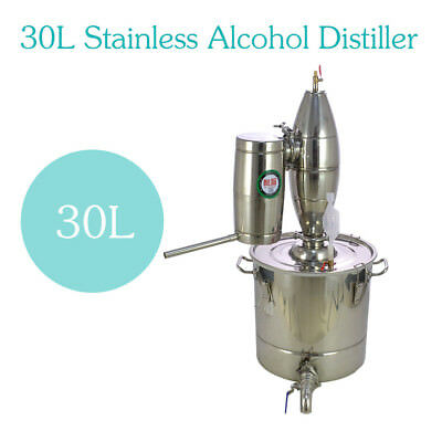 30L Alcohol Wine Spirits Maker Stainless Distiller Brew Kit Moonshine Still De