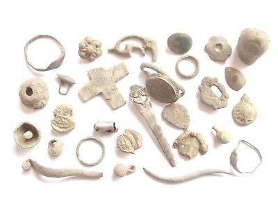Lot of Misc. Ancient Bronze / Silver / Lead Artifacts