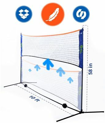 10 Foot Rust Resistant Long Portable Net Stand for Family Sport Outdoor Games