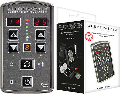 ElectraStim Flick Duo Stimulator Multi-Pack Set Reizstrom Stimulation Massage *