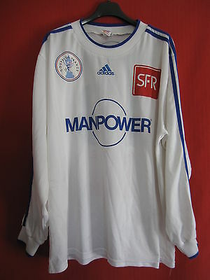 Football jersey French Cup White No. 13 Manpower match worn worn color OM - XL