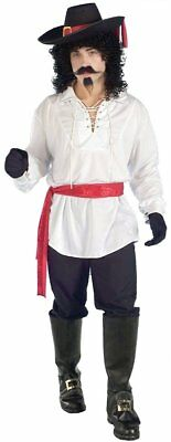 White Swash Buckler Costume Shirt Adult Standard