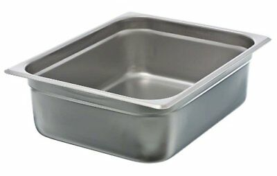"Update International NJP-504 4"" Half-Size Anti-Jam Steam Table Pan Pans Cookware"