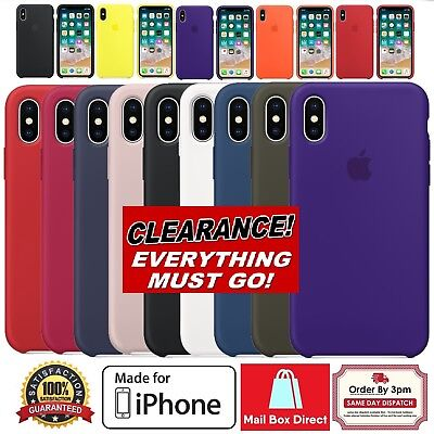 Genuine Official Soft Silicone Case Cover for iPhone 8 X 7 7 Plus Boxed