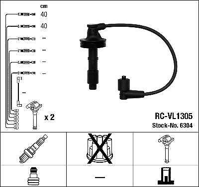 Ignition Ht Lead Set Ngk Rc-Vl1305            6304