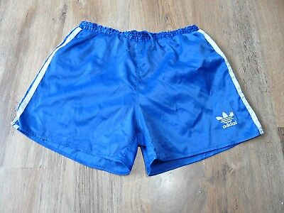 VINTAGE ADIDAS SHINY Nylon Shorts Glanz Ibiza Laufgröße Medium D6