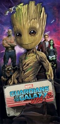Disney marvel Happy Guardian Groot Beach Towel 28x58 Spring Summer Galaxy