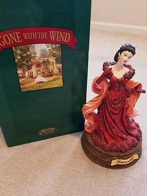 San Francisco Music Box Scarlett in Red Dress Gone with the Wind