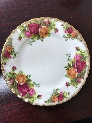 "Royal Albert - Fine Bone China - Old Country Roses Bread Plate 6.25"" Free Ship"