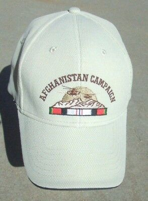 New Afghanistan Campaign Cap NU-FIT EMBROIDERED BALL CAP  Size XL 7 1/8-7 5/8