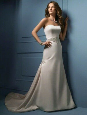 New ALFRED ANGELO style 809 wedding dress size 14 ivory RRP £1000 +