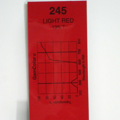 GAM  #245 Light Red gel color media filter sheet