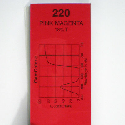 GAM  #220 Pink Magenta gel color media filter sheet