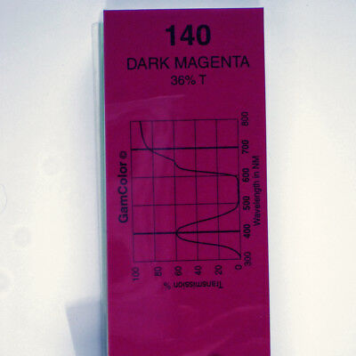 GAM  #140 Dark Magenta gel color media filter sheet