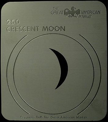 "Gobo template pattern - GAM 250 ""Crescent Moon"""
