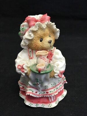 """Cherished Teddies """"A Cup Of Homemade Love"""" 1995 Girl W/ Hot Cocoa Enesco 141119"""
