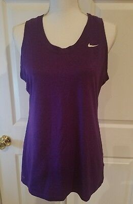 Nike Fit Dry Running Workout Tank Purple Size L Athletic Top womens