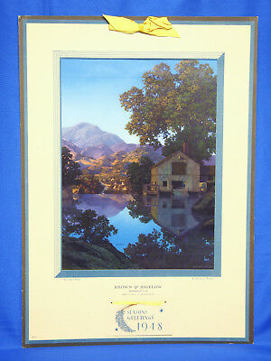 "Vintage Maxfield Parrish Executive Calendar ""The Mill Pond"""